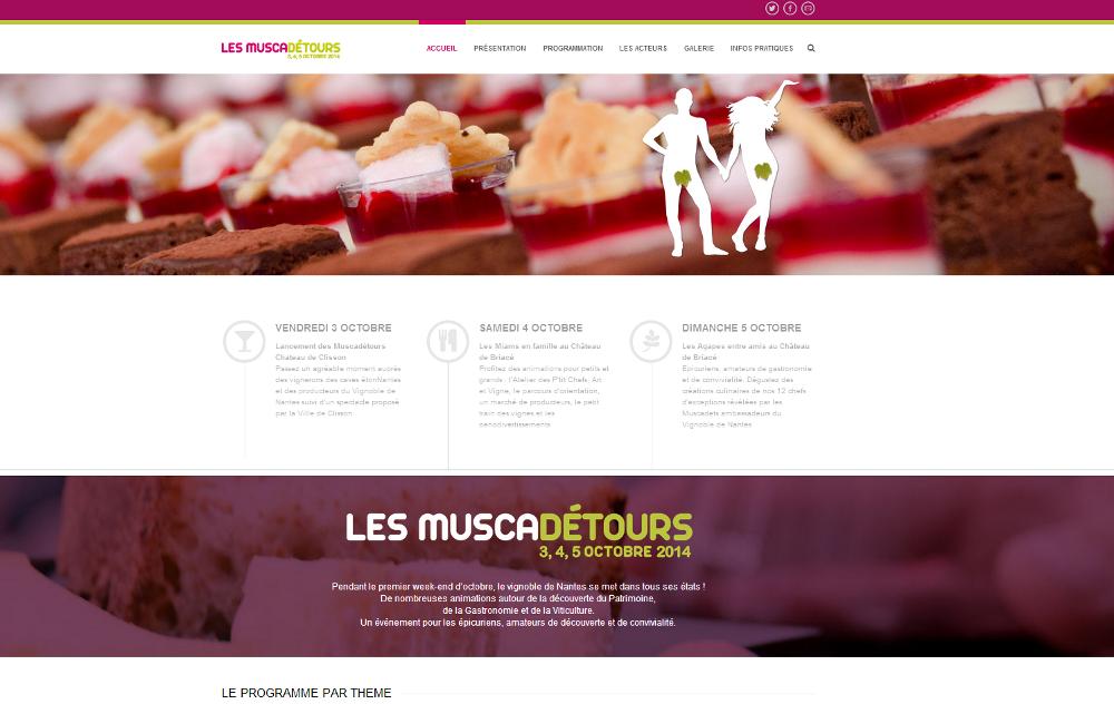 Site Internet LesMuscadetours.com