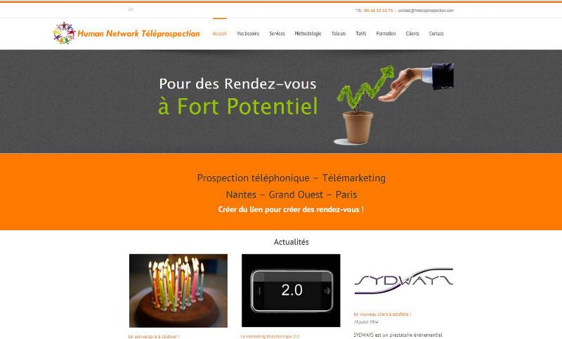 HN Teleprospection Site Web WordPress