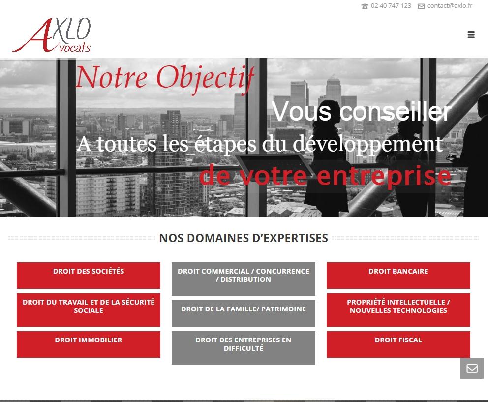 Site Internet Nantes Axlo Avocats