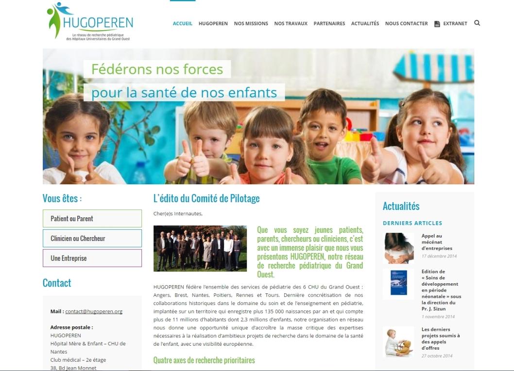 Site web Hugoperen Hopitaux du grand ouest