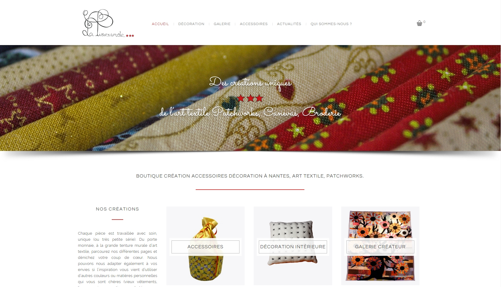 Boutique la tisserande nantes site ecommerce - Magasin de decoration nantes ...