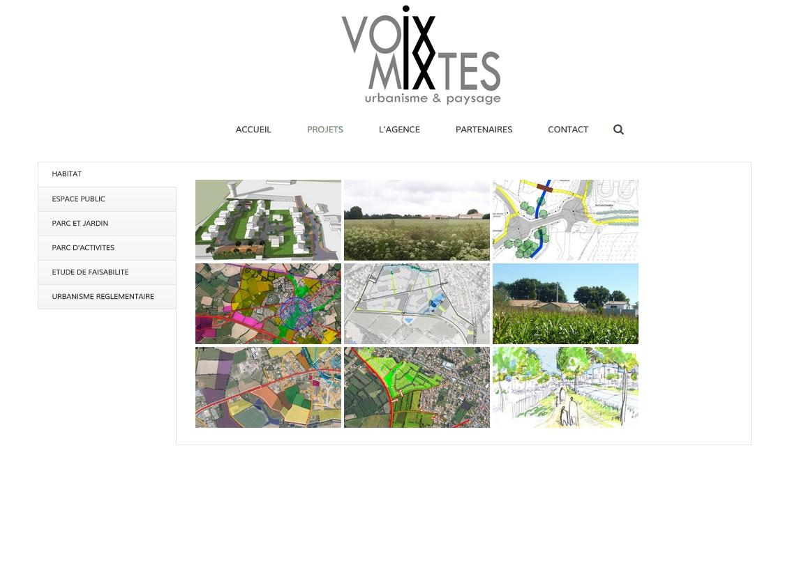 Un nouveau site internet pour l 39 agence voix mixtes rez for Agence urbanisme paysage nantes