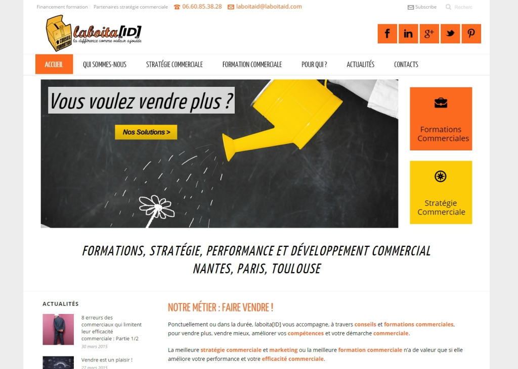 Site Internet WordPress LaboitaID