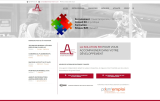 Adventice-Interim Creation site internet Nantes