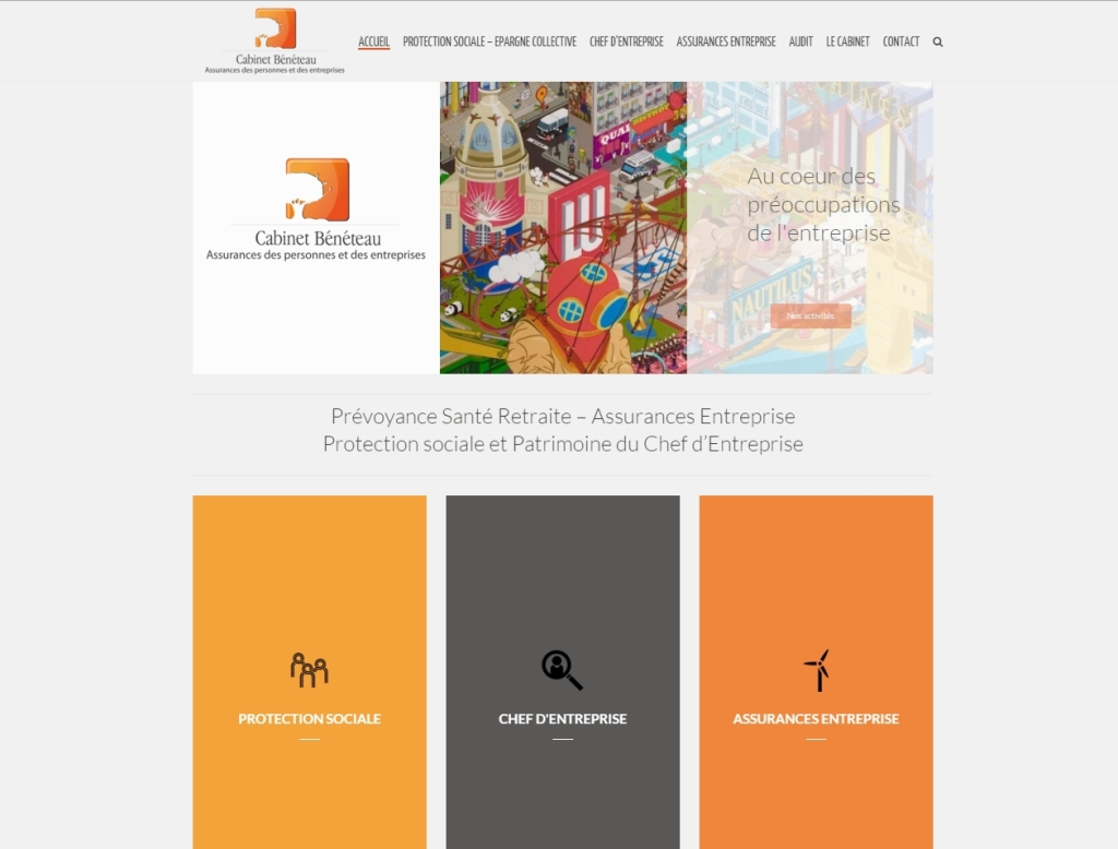 Site Internet WordPress Nantes Cabinet Beneteau