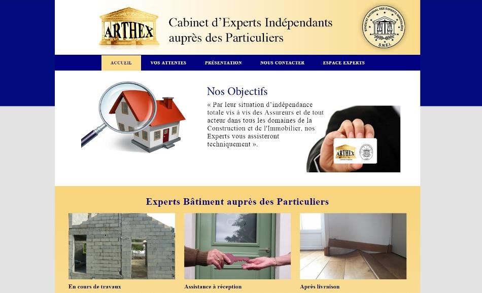 Refonte du site du cabinet d 39 experts arthex - Cabinet expertise batiment ...