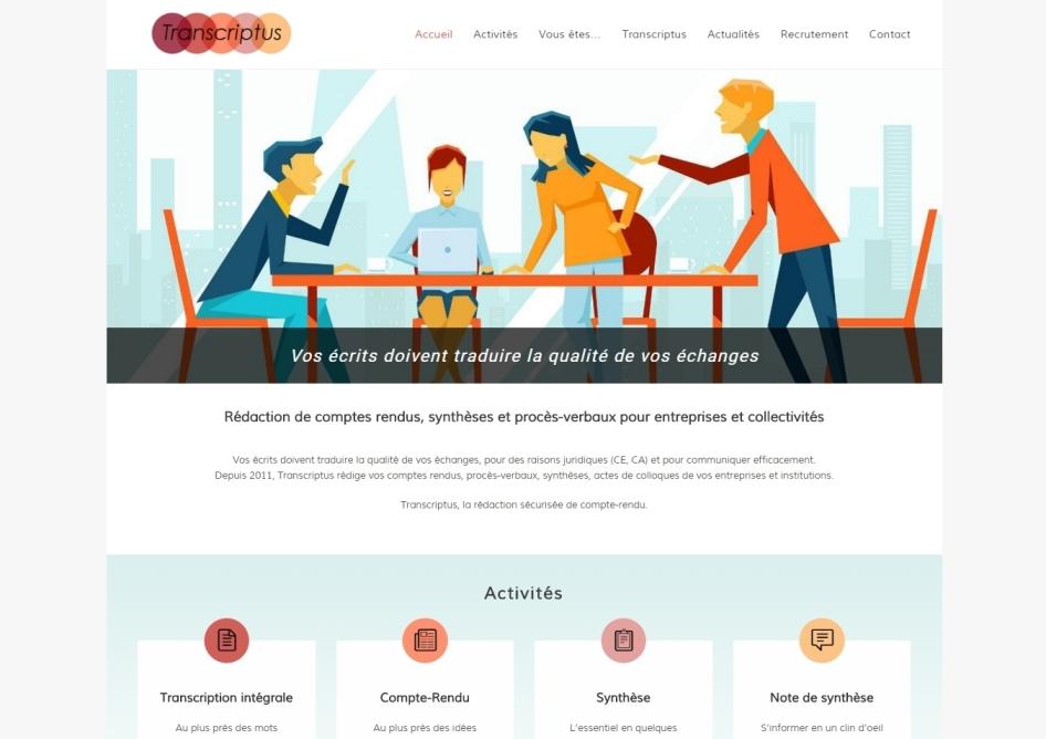 Transcriptus Site WordPress Nantes