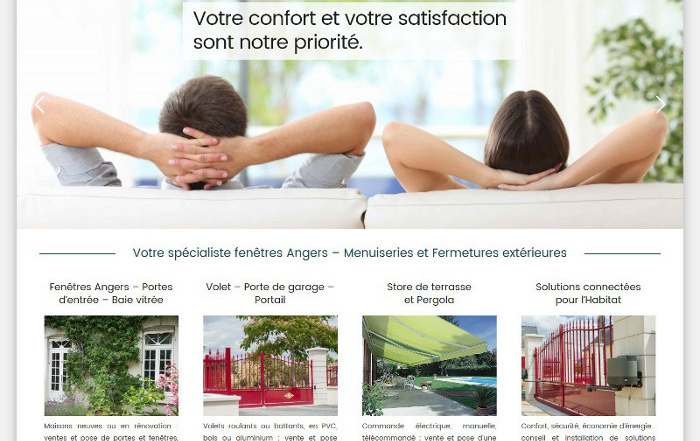 Fenetrier Anjou site Wordpress Angers 49