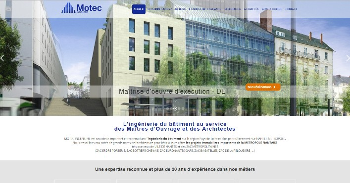 Motec Ingenierie Site WordPress Nantes
