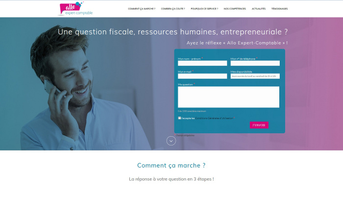 Allo Expert Comptable Site Wordpress Nantes