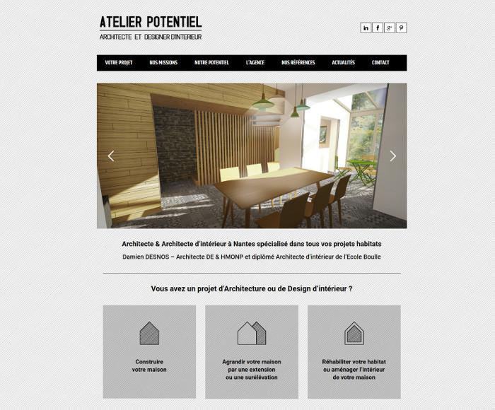 Atelier Potentiel Site Internet Architecte Nantes