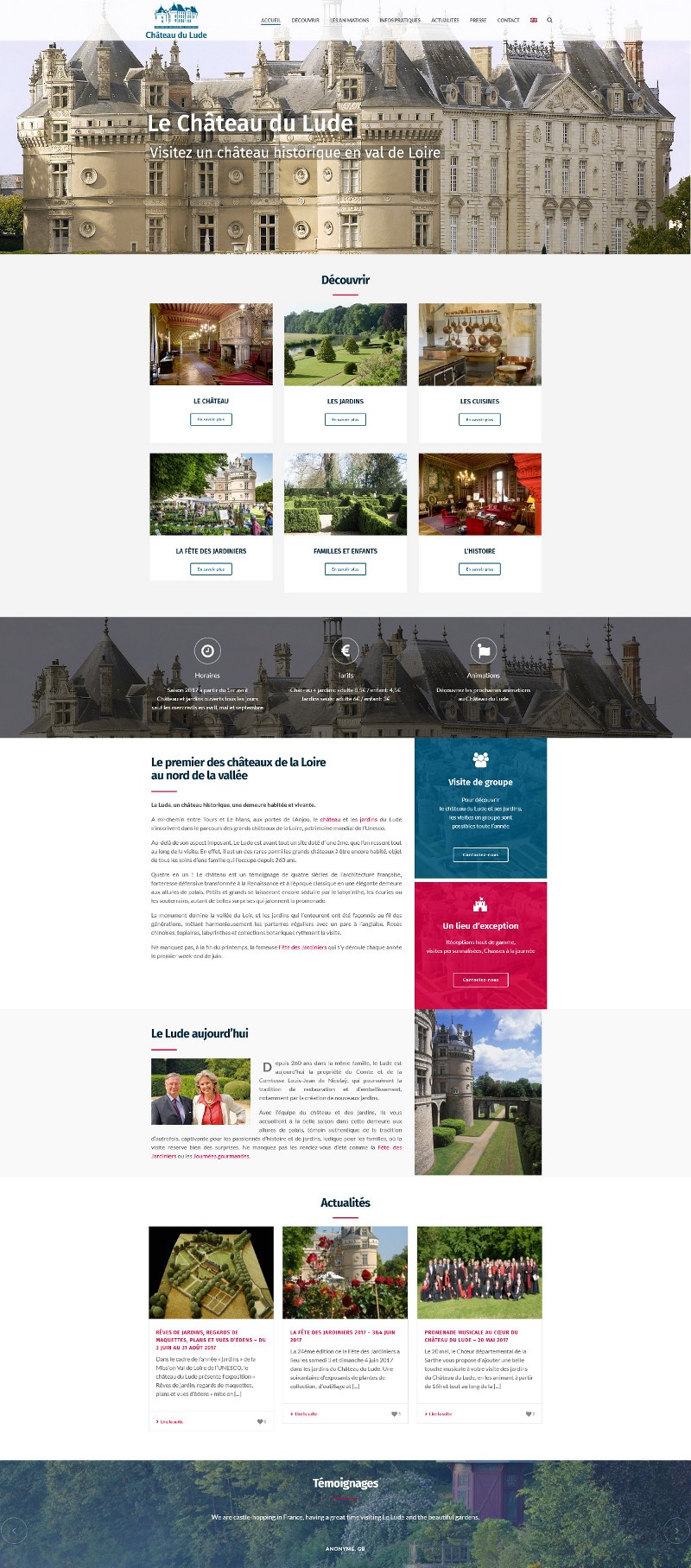 Site Internet WordPress Chateau du Lude