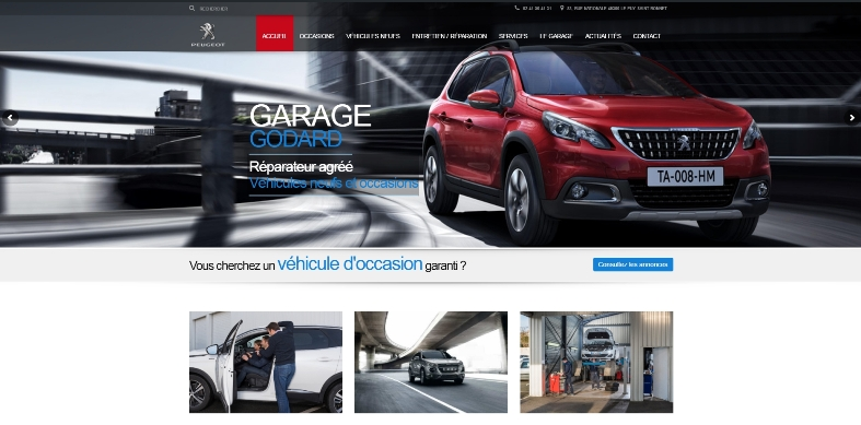 Site Internet Cholet Garage Godard