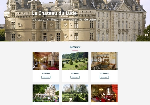 Site Internet Wordpress Chateau du Lude - Sarthe