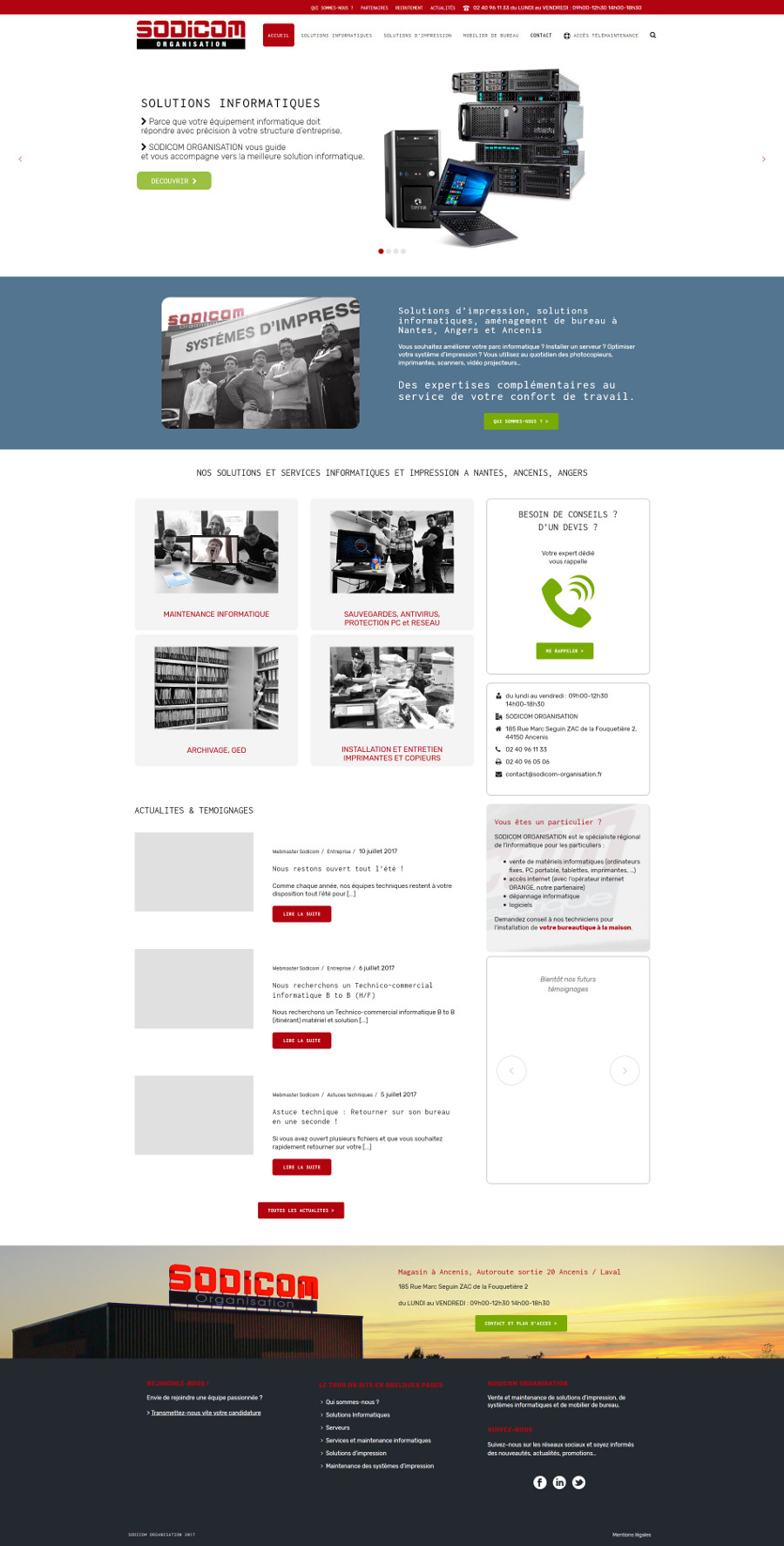 Agence Web WordPress Sodicom Organisation