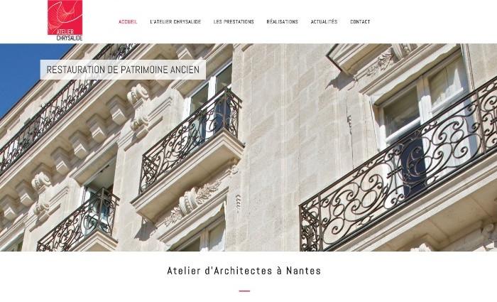Site Internet Atelier Chrysalide Architectes Nantes