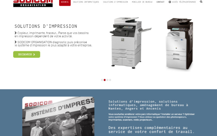 Site Wordpress Ancenis Sodicom Organisation 44