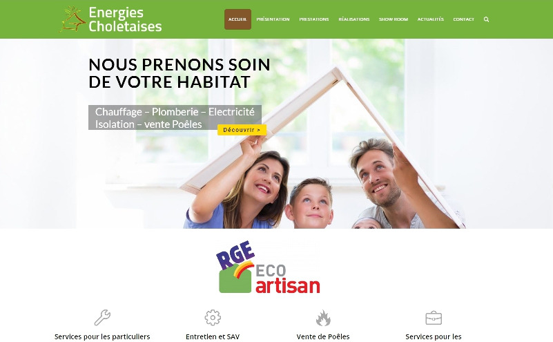 site vitrine Wordpress Energies Choletaises Cholet