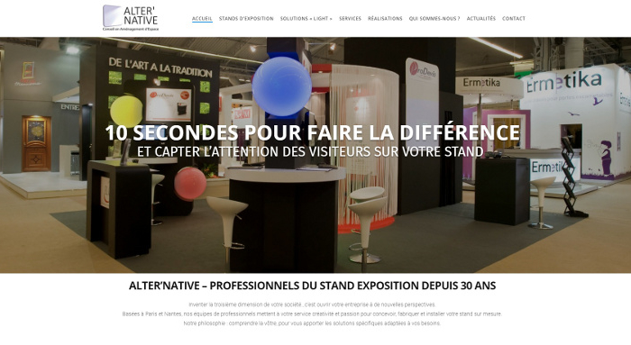 Agence Web Nantes Site Stand Alternative