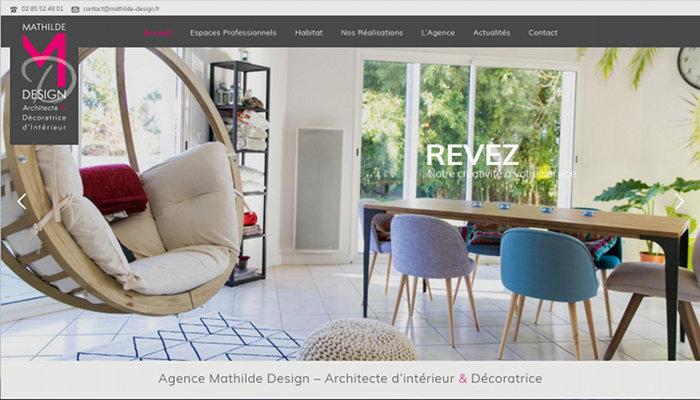 Creation site Internet Nantes Architecte intérieur