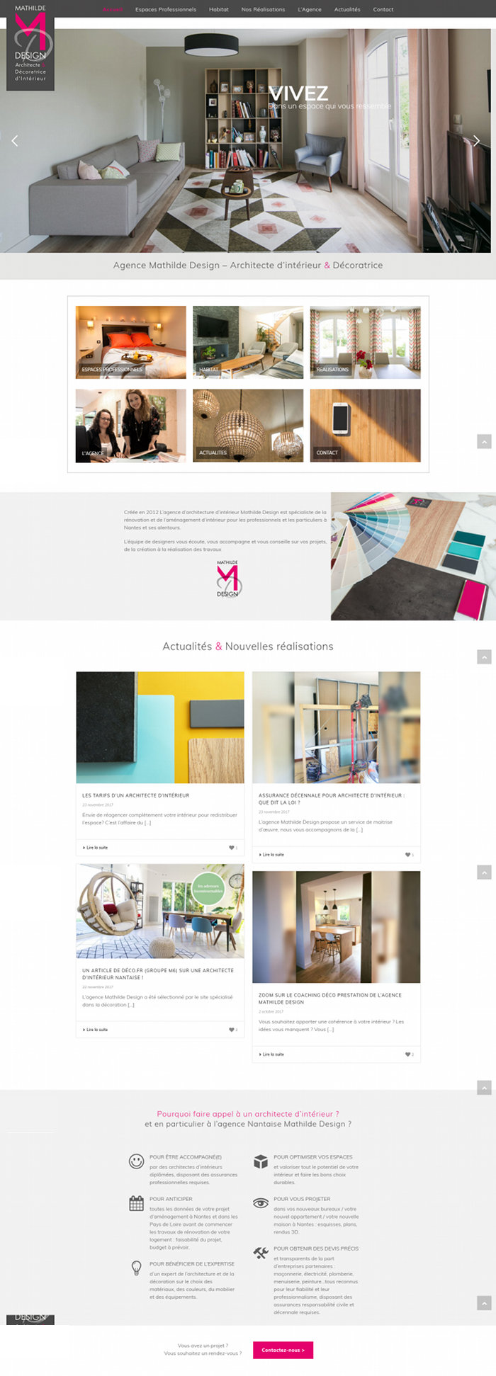 Nouveau site internet nantes mathilde design for Design d interieur nantes