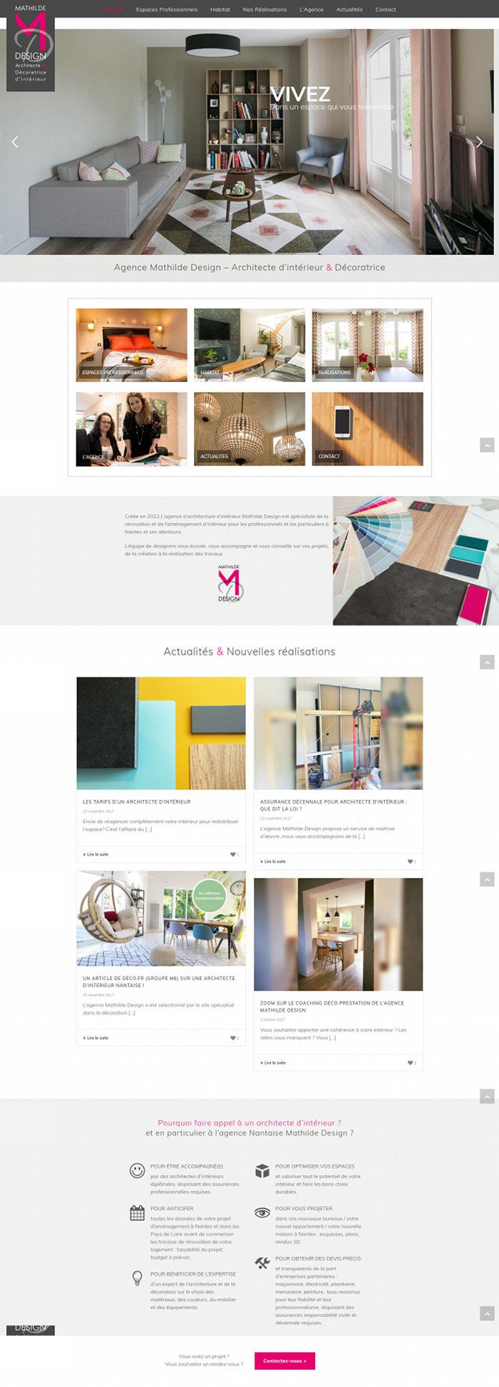 Site Architecte interieur Nantes Mathilde Design