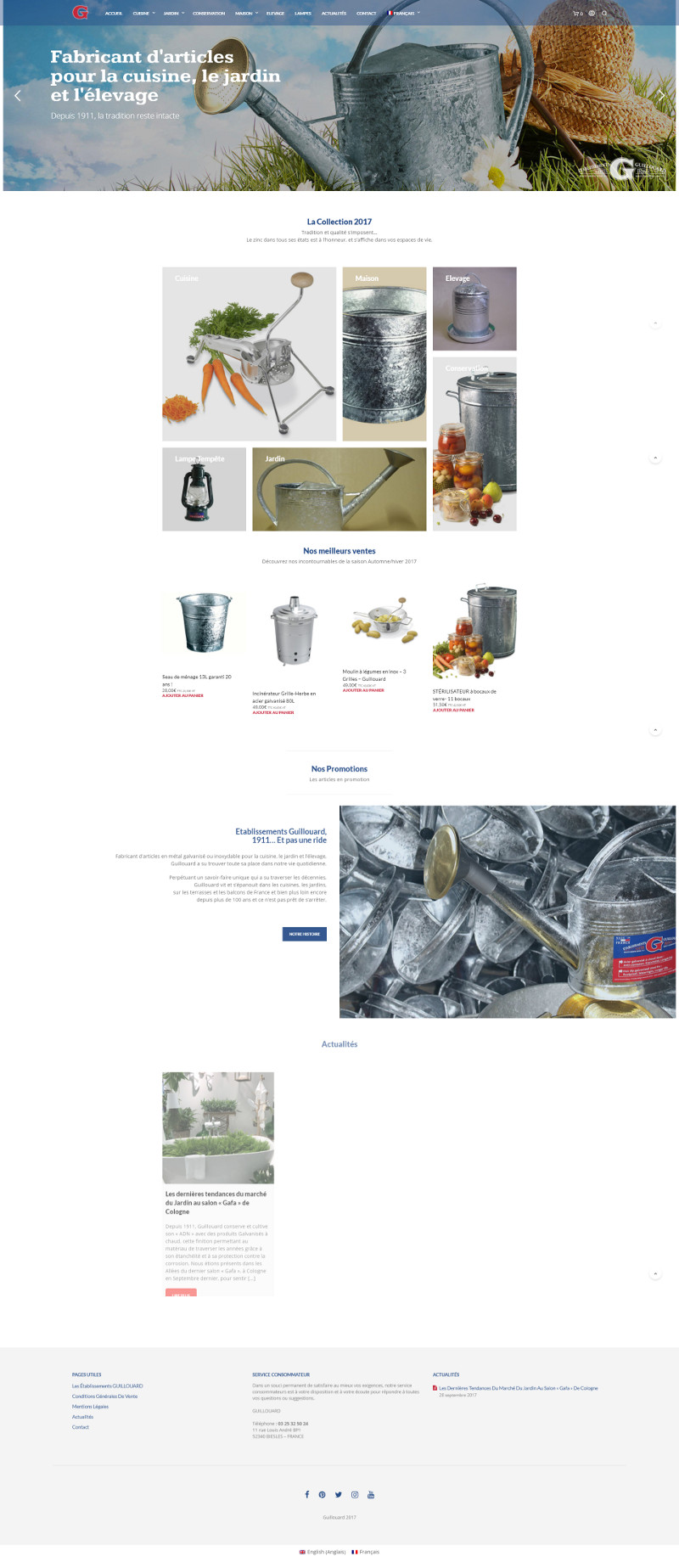 Site Woocommerce Nantes Guillouard