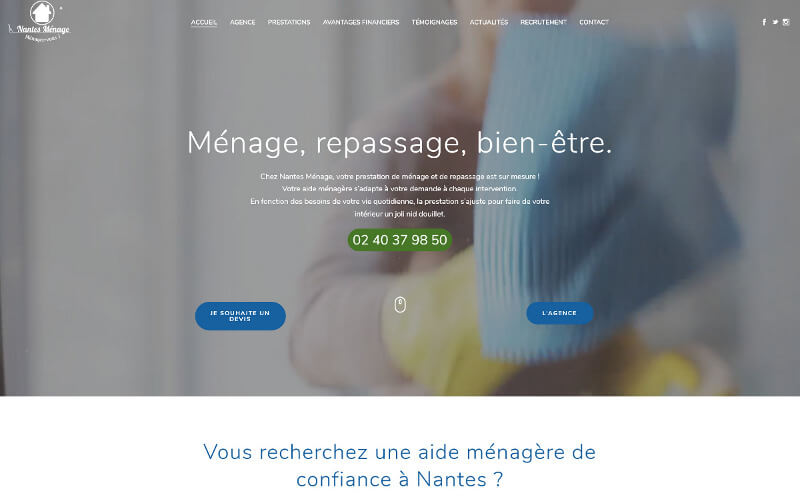 Site Wordpress Nantes Menage