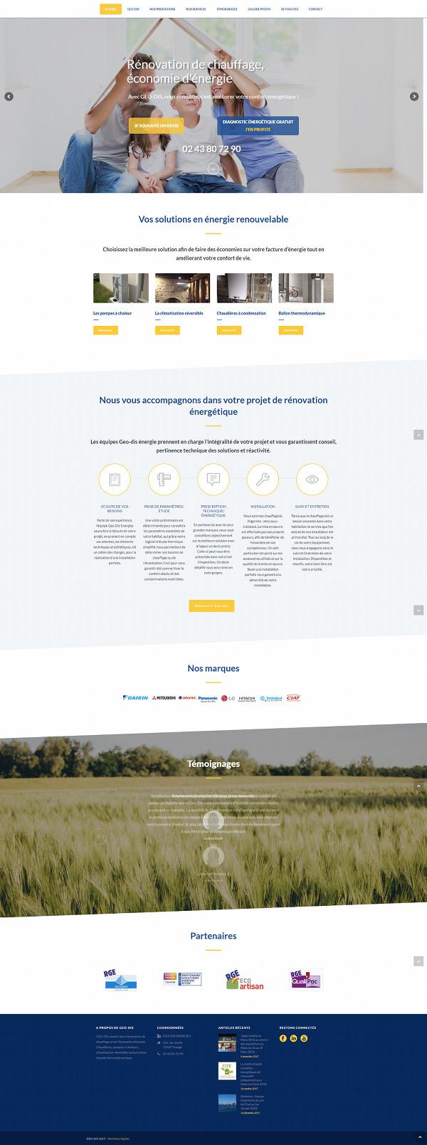 Agence Web WordPress Geodis Energies Le Mans