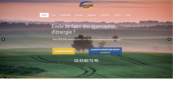 Creation Site Internet Le Mans Geodis Energies