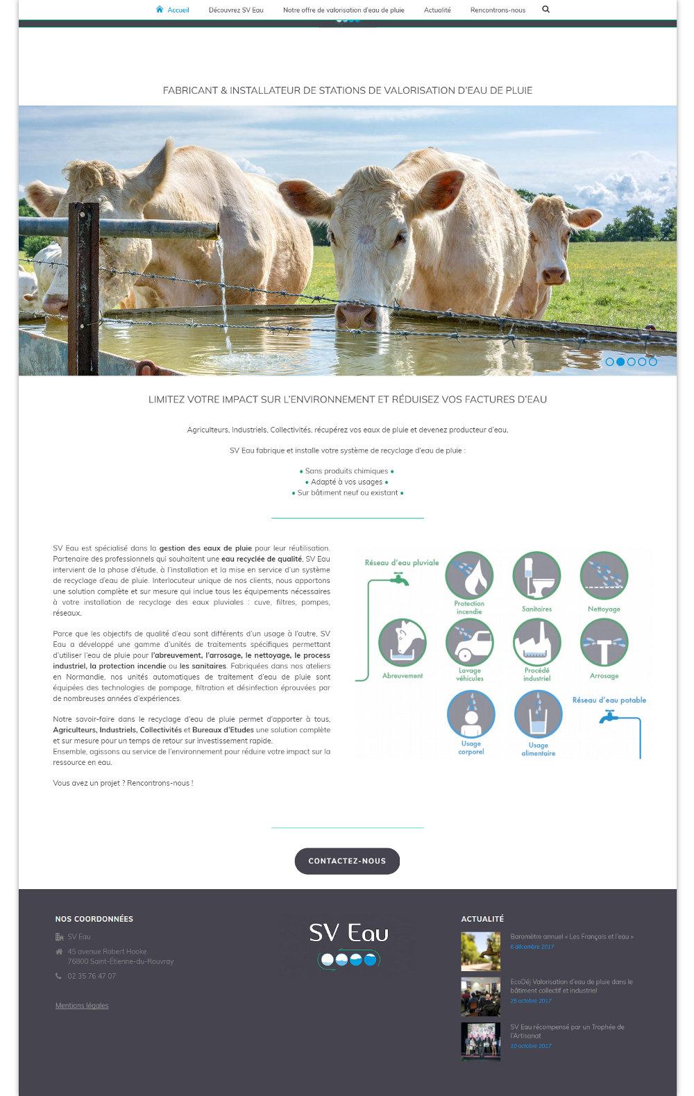 site vitrine SV Eau