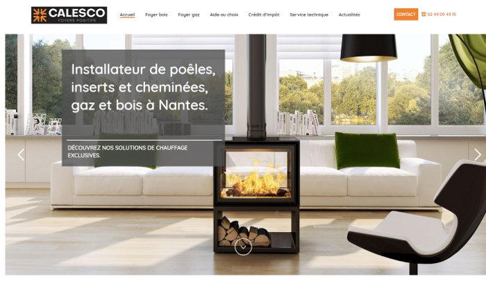 Agence Web Nantes Site Calesco