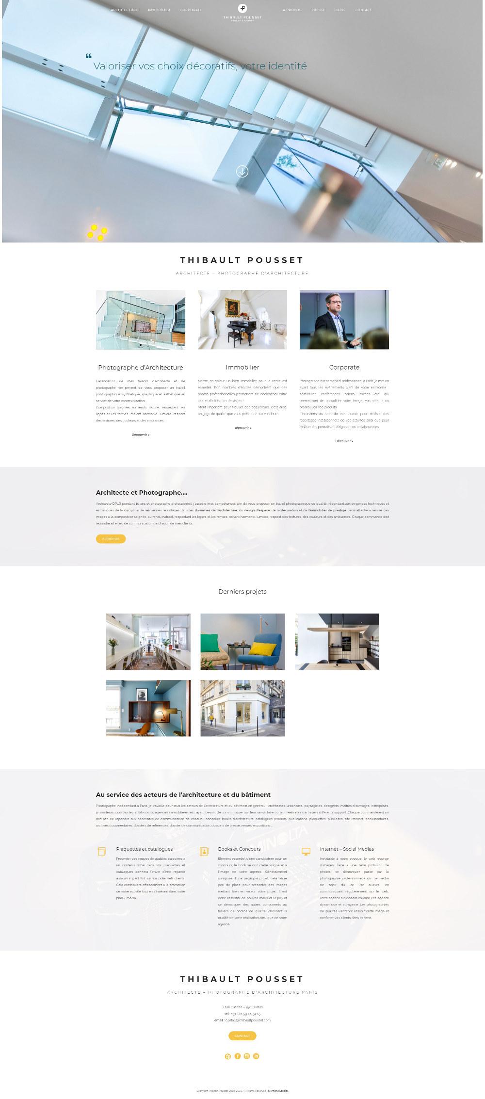 Site Photographe Architecture Paris