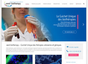 West Biotherapy site Wordpress Sante CHU Nantes