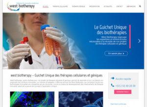 West Biotherapy site Wordpress Sante CHU Nantes