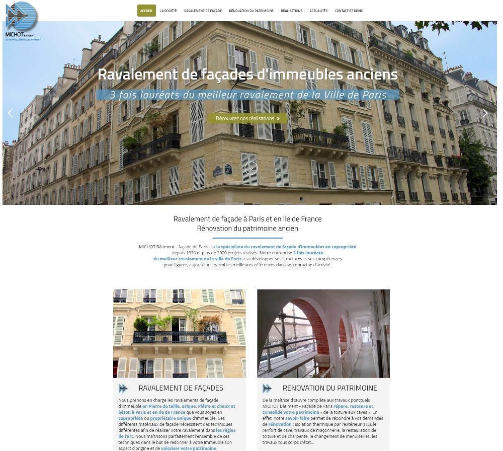 Michot Batiment Ravalement Facades Paris