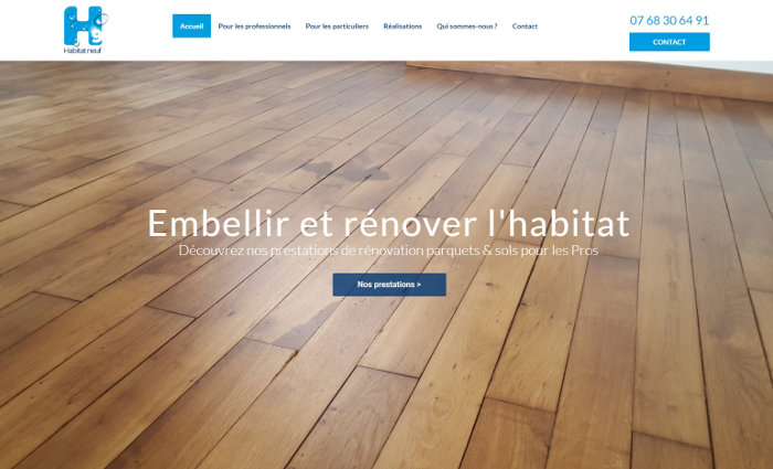 Habitat neuf site Wordpress Nantes