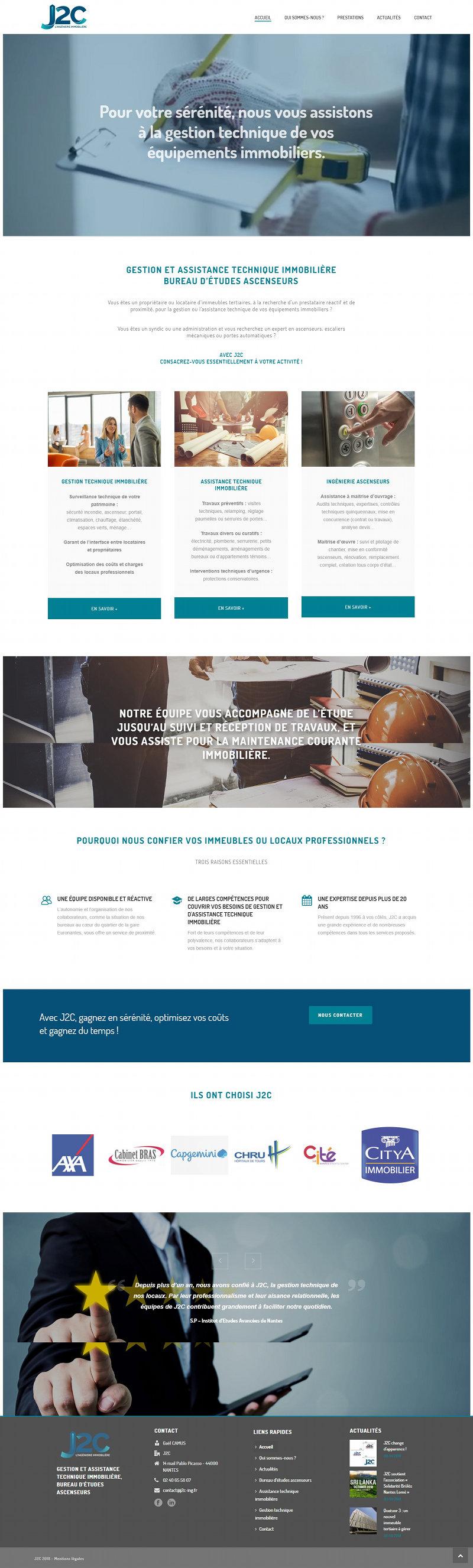 J2C ingenierie Nantes WordPress