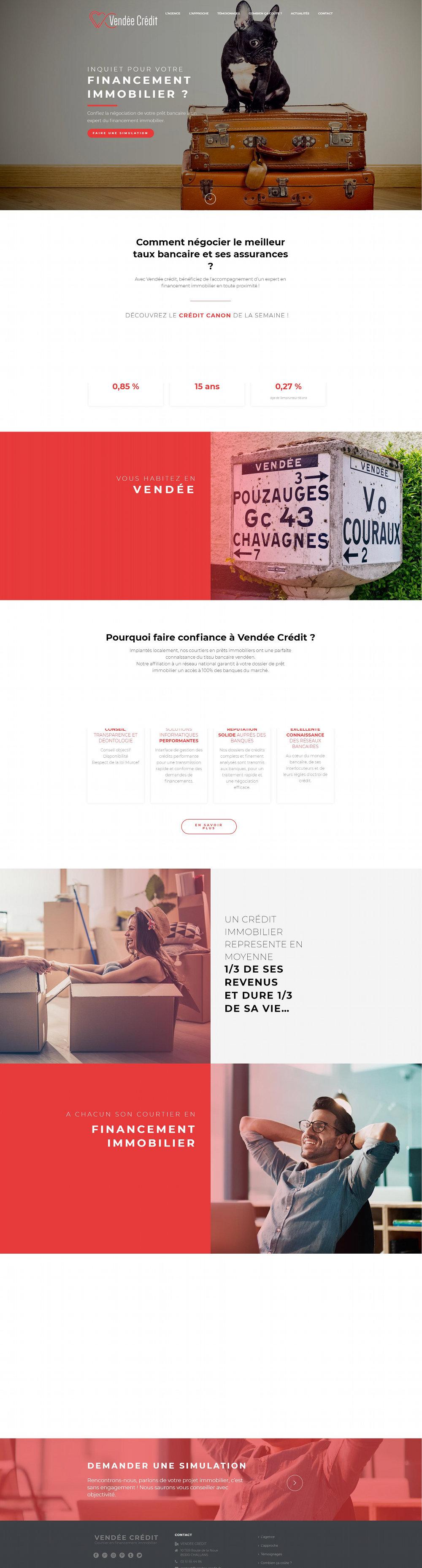 Création Site Internet Vendee Credit Challans