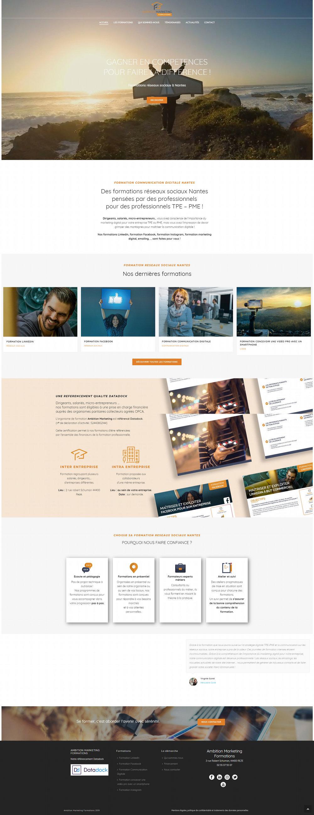 Creation site Internet Formation Nantes