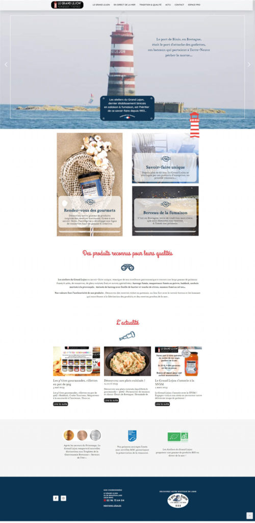 Le Grand Lejon site vitrine WordPress