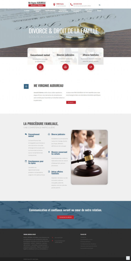 Creation Site Internet Avocat Nantes Me Audureau