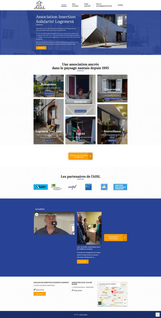 AISL Nantes site WordPress