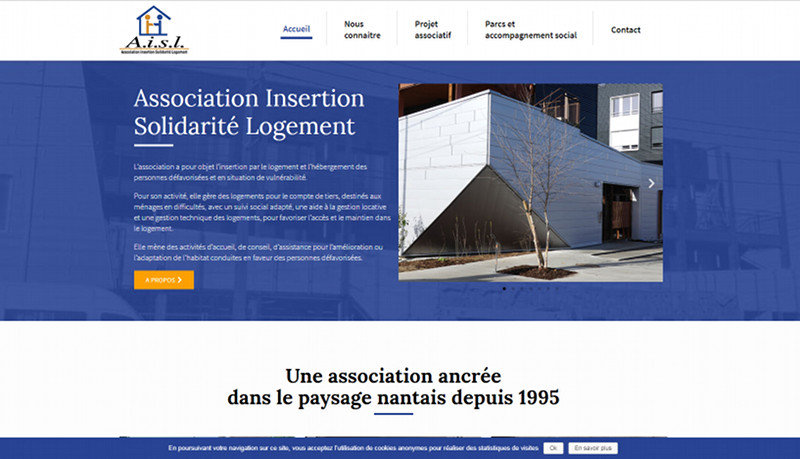 AISL Nantes site internet Association solidarite logement