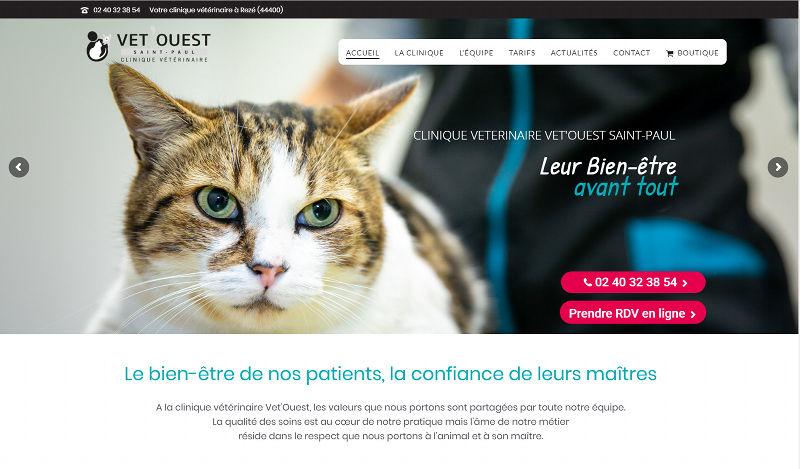 Agence Web Rezé 44400 site veterinaire