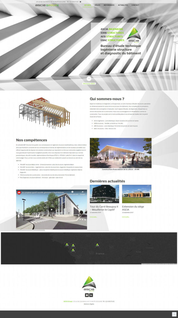 Creation site internet Nantes WordPress Ascia Ingenierie