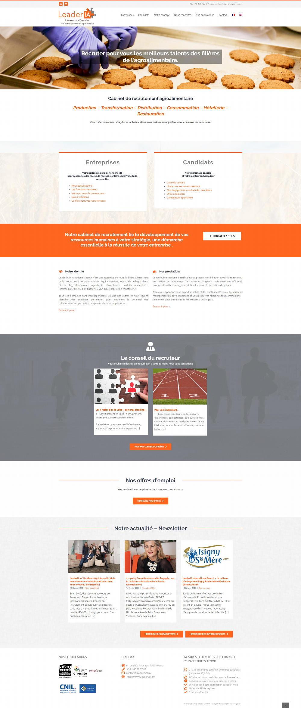 Creation Site Internet recrutement Paris
