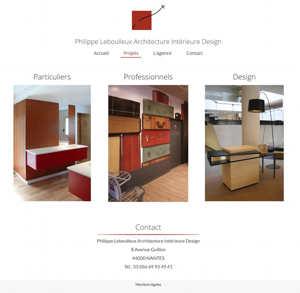 Creation site Internet Nantes Architecte interieur