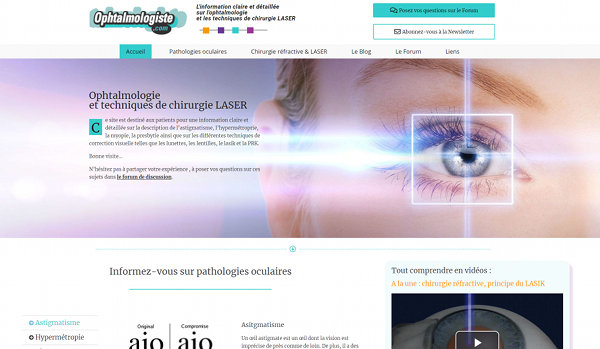 Création site Internet Nantes Ophtalmologiste