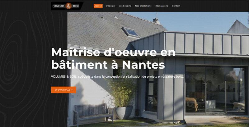 Creation site Internet Nantes Volumes et Bois